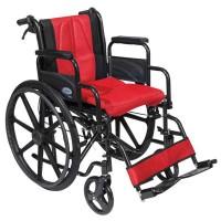 Αναπηρικό αμαξίδιο Golden με κόκκινα μαξιλάρια 0808480
